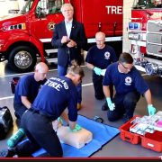 Gov. John Kitzhaber stars in a public service announcement on CPR