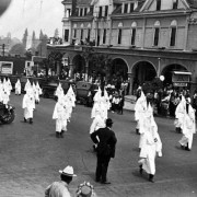 Ku Klux Klan marches in Ashland, Ore., in the 1920s. The Klan had a large membership in Oregon.