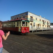 Riverfront trolley
