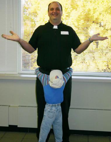 Priest Halloween Costume With Little Boy
